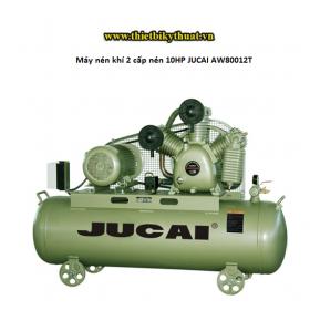 Máy nén khí 2 cấp nén 10HP JUCAI AW80012T