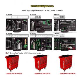 Tủ Đồ Nghề 7 Ngăn Toptul 275 Chi Tiết - Model GCAJ0035