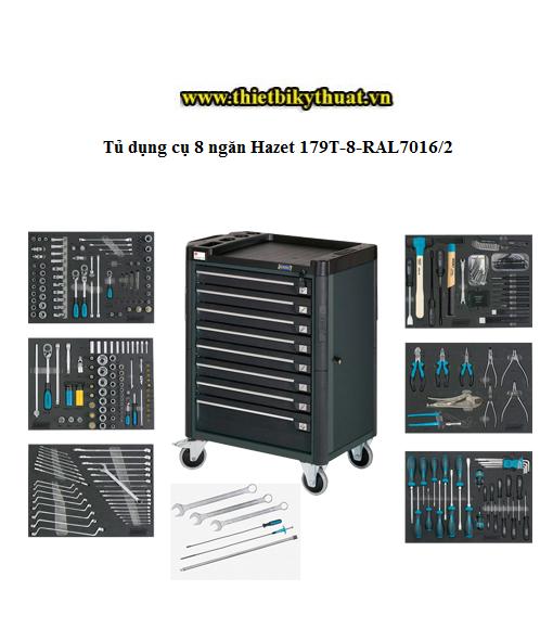 Tủ dụng cụ 8 ngăn Hazet 179T-8-RAL7016/2