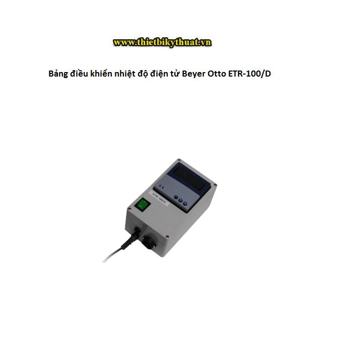 Bảng điều khiển nhiệt độ điện tử Beyer Otto ETR-100.D