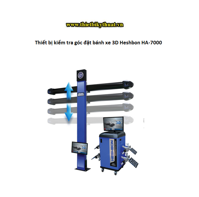 Thiết bị kiểm tra góc đặt bánh xe 3D Heshbon HA-7000