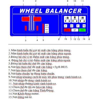 Hướng dẫn sử dụng máy cân bằng lốp tự động