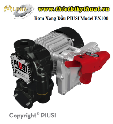 Bơm Xăng Dầu PIUSI Model EX100 DRUM
