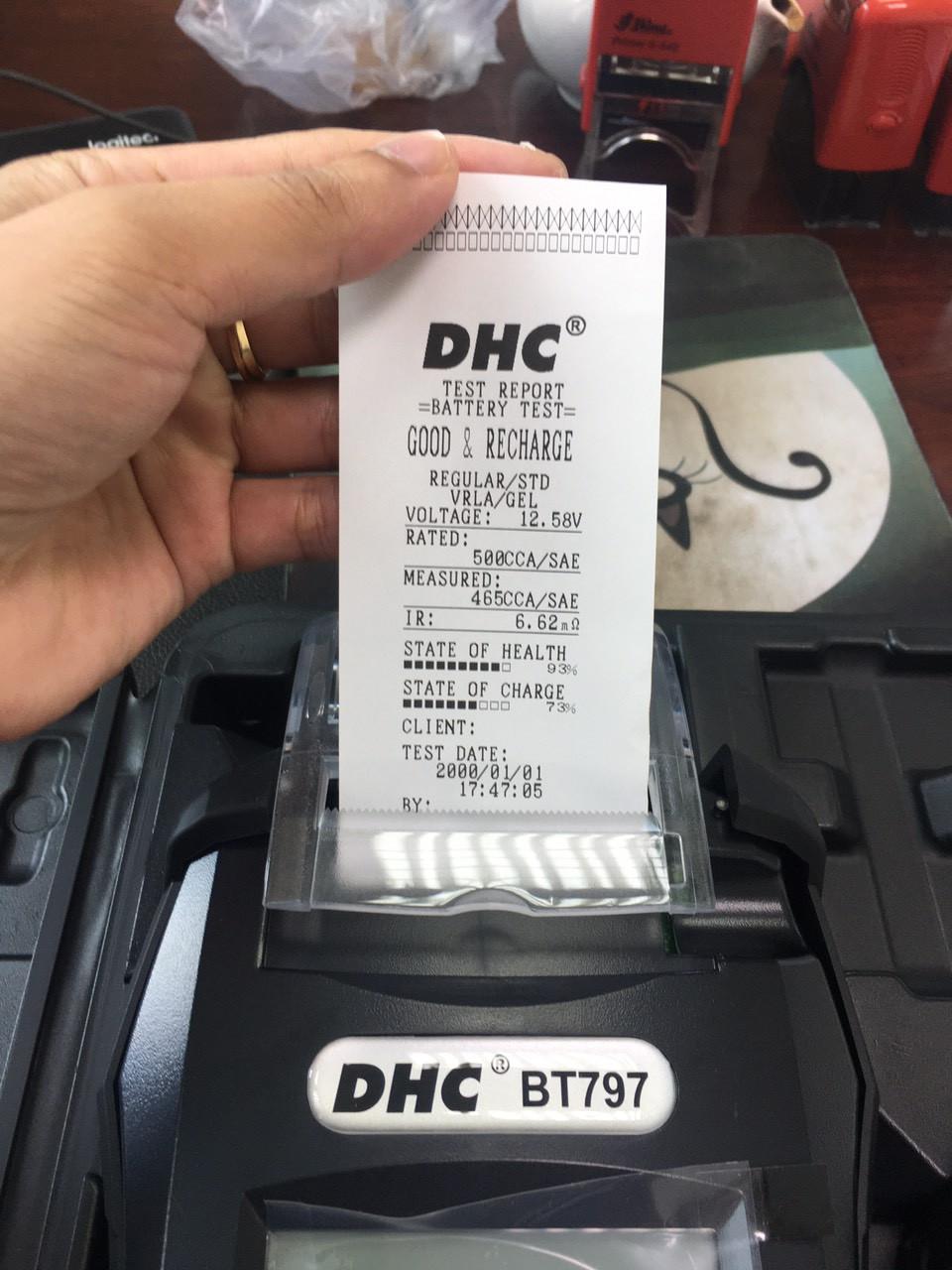 Máy kiểm tra bình acquy BT797 DHC