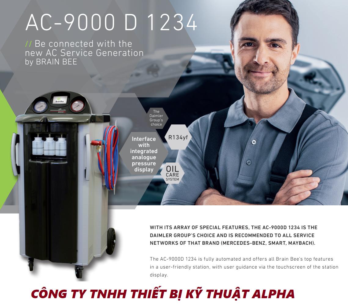 Máy sạc gas lạnh điều hòa ô tô BRAIN BEE AC-9000D 1234